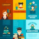 Sistema del cartel de la lectura Foto de archivo libre de regalías