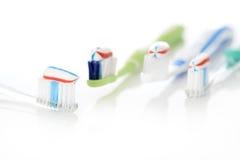 Sistema del cepillo de dientes Fotos de archivo