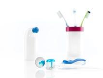 Sistema del cepillo de dientes Imagen de archivo libre de regalías