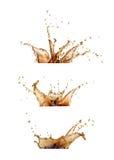 sistema del chapoteo del café o de la cola imagen de archivo libre de regalías
