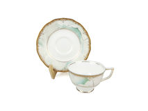 Sistema del chino de tazas de té en el fondo blanco Fotos de archivo