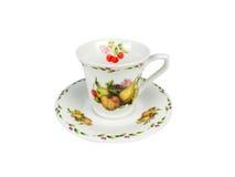 Sistema del chino de tazas de té en el fondo blanco Fotografía de archivo libre de regalías
