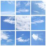Sistema del cielo azul Fotos de archivo libres de regalías