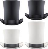 Sistema del cilindro grande del sombrero del caballero Vector Imágenes de archivo libres de regalías