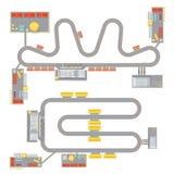 Sistema del circuito del motor ilustración del vector