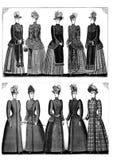 Sistema del clip art de la moda del vintage libre illustration
