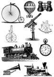 Sistema del clip art del steampunk del vintage stock de ilustración