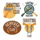 Sistema del club del tiroteo del logotipo Stock de ilustración
