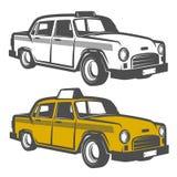 Sistema del coche del taxi para los emblemas, el logotipo y el diseño imágenes de archivo libres de regalías