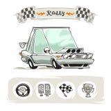 Sistema del coche deportivo de la historieta Foto de archivo