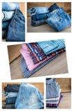 Sistema del collage de diversos ropa y accesorios para los hombres Foto de archivo libre de regalías