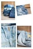 Sistema del collage de diversos ropa y accesorios para los hombres Foto de archivo