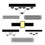 Sistema del collar de Chocker Fotos de archivo libres de regalías
