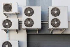 Sistema del compressore del condizionamento d'aria fuori Fotografia Stock