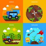 Sistema del concepto de la agricultura Fotografía de archivo libre de regalías
