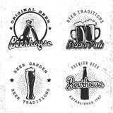 Sistema del concepto de la cerveza de los logotipos Foto de archivo