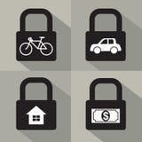 Sistema del concepto de la seguridad del activo Fotografía de archivo libre de regalías