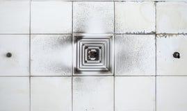 Sistema del condizionatore d'aria con lo stato sporco Immagini Stock Libere da Diritti