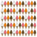 Sistema del cono de helado Imagen de archivo libre de regalías