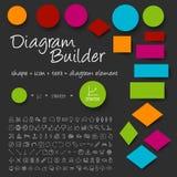 Sistema del constructor del diagrama del esquema del vector Imagen de archivo libre de regalías