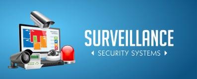Sistema del controllo di accesso - zone dell'allarme - concetto di sistema di sicurezza - insegna del sito Web illustrazione vettoriale