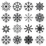 Sistema del copo de nieve de la Navidad Imagen de archivo