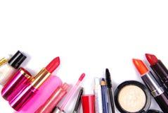 Sistema del cosmético isoalted Foto de archivo libre de regalías