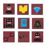 Sistema del criminal y de la prisión stock de ilustración