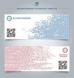 Sistema del cuadrado de los datos digitales de la tecnología del extracto de la plantilla azul y stock de ilustración