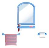 Sistema del cuarto de baño Foto de archivo libre de regalías
