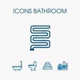 Sistema del cuarto de baño de los iconos Foto de archivo libre de regalías