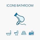 Sistema del cuarto de baño de los iconos Imagen de archivo