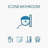 Sistema del cuarto de baño de los iconos Fotos de archivo libres de regalías
