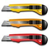 Sistema del cuchillo del cortador stock de ilustración