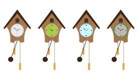 sistema del Cuco-reloj. EPS 10 Stock de ilustración