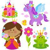 Sistema del cuento de hadas de la princesa de la primavera libre illustration