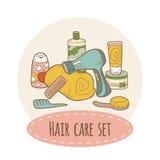 Sistema del cuidado del cabello libre illustration