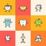 Sistema del cuidado dental, elemento para el concepto del diente Imagenes de archivo