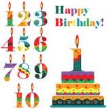 Sistema del cumpleaños Imagen de archivo libre de regalías