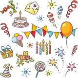Sistema del cumpleaños de la historieta libre illustration