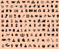 Sistema del día de fiesta y del icono de la celebración Imagen de archivo libre de regalías