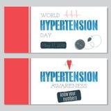 Sistema del día de la hipertensión de banderas Fotos de archivo libres de regalías