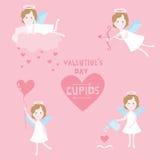 Sistema del día de tarjeta del día de San Valentín Imágenes de archivo libres de regalías