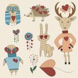 Sistema del día de tarjeta del día de San Valentín del vector libre illustration
