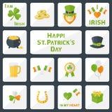 Sistema del día del St Patricks Fotos de archivo libres de regalías
