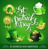 Sistema del día del St Patricks de ejemplos del vector stock de ilustración