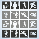 Sistema del deporte jugadores Ilustración Editable del vector Fotos de archivo