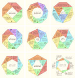 Sistema del diagrama infographic poligonal Imagen de archivo libre de regalías