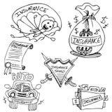 Sistema del dibujo del seguro Fotos de archivo libres de regalías