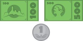 Sistema del dinero ilustración del vector